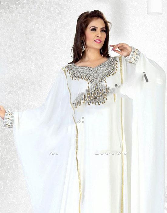 abaya blanche or ou argent pas cher. Black Bedroom Furniture Sets. Home Design Ideas