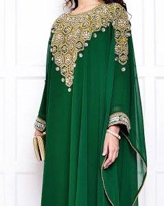abaya dubai vert
