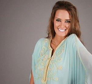 abaya bleu turquoise pas cher