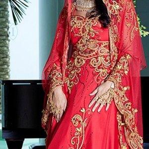 abaya-moderne-rouge