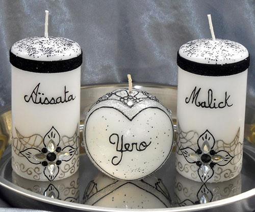 les bougies orientales personnalises sont facilement reconnaissables grce aux messages ou aux inscriptions sur une ou plusieurs bougies - Bougie Mariage Oriental