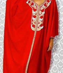 gandoura-femme-rouge