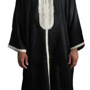 gandoura-homme-noir