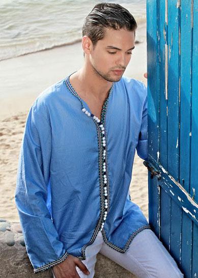 gandoura homme un costume marocain chic en 2017 pas cher. Black Bedroom Furniture Sets. Home Design Ideas