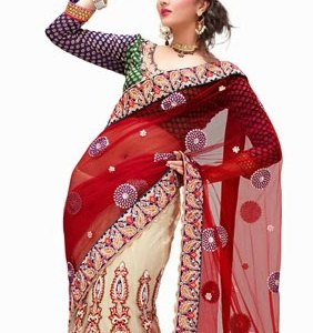 lehenga-choli-rouge-traditionnelle