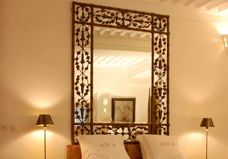 miroir mural en resine dore 80x62 cm achat vente grand. Black Bedroom Furniture Sets. Home Design Ideas