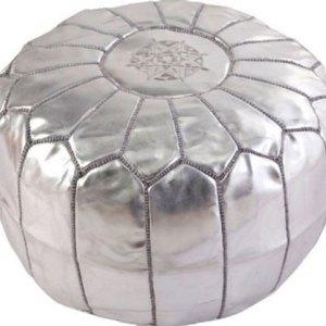 pouf-marocain-argente
