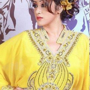 robe-dubai-jaune-argent