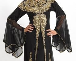abaya-dubai-noir-dore