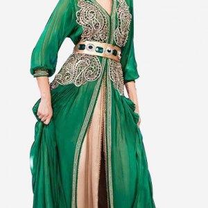 caftan-marocain-vert-henne