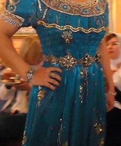 robe oranaise bleu