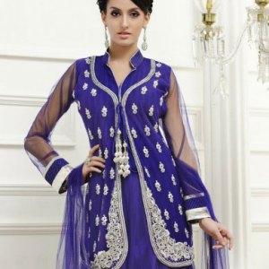 salwar-kameez-bleu-argent