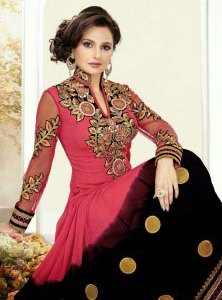 salwar-kameez-noir-rose