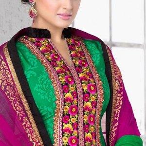 salwar-kameez-vert-rose