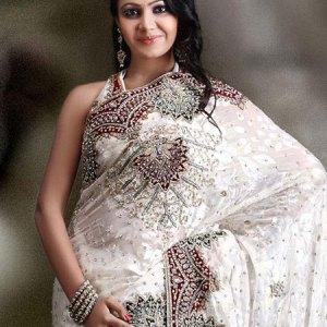 sari-indien-blanc-argent