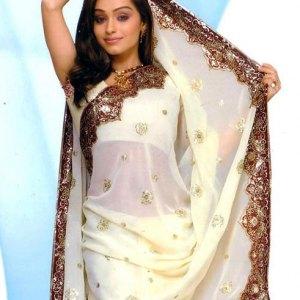sari-indien-blanc-satin-de-soie