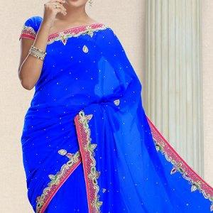 sari-indien-bleu-pas-cher