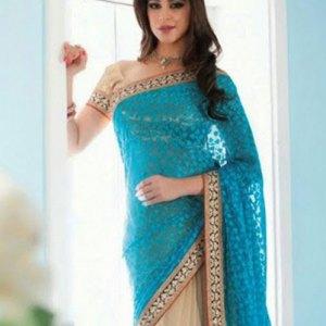 sari-indien-bleu-turquoise