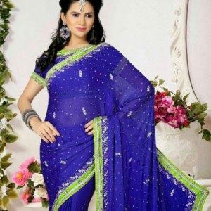 sari-indien-bleu-vert