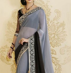 sari indien noir