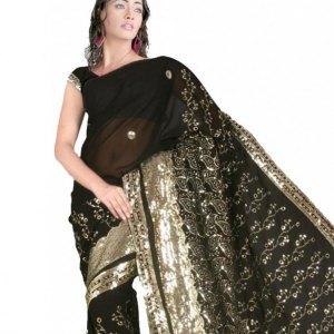 sari-indien-noir-mariage