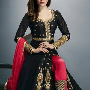 sari-indien-noir-or