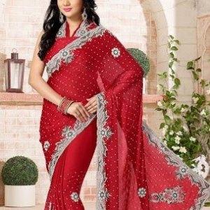 sari-indien-rouge-bollywood