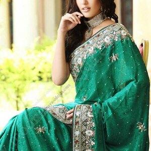 sari-indien-vert-argent