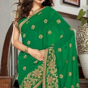 sari-indien-vert-dore