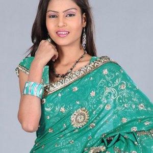sari-indien-vert-emeraude