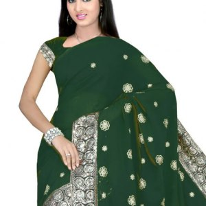 sari-indien-vert-fonce