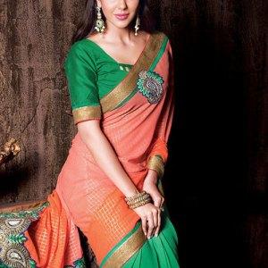 sari-indien-vert-rose-pas-cher