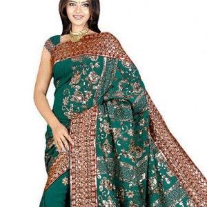 sari-indien-vert-traditionnel