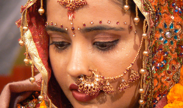 Coiffure indienne pour mariage