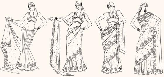 mettre un sari