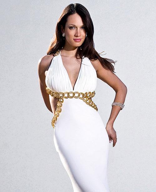 robe blanche libanaise doré