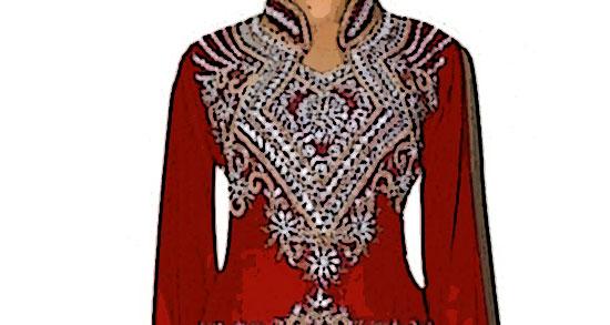 robe dubai rouge