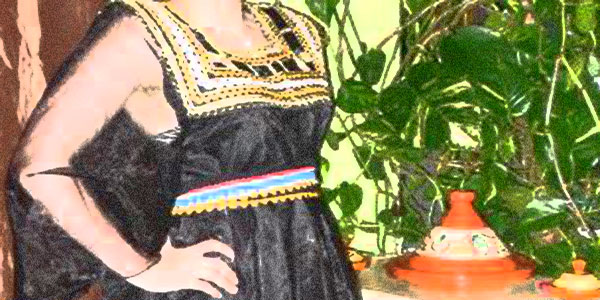 robe kabyle noir