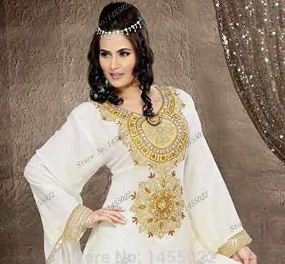 abaya dubai blanche grande taille