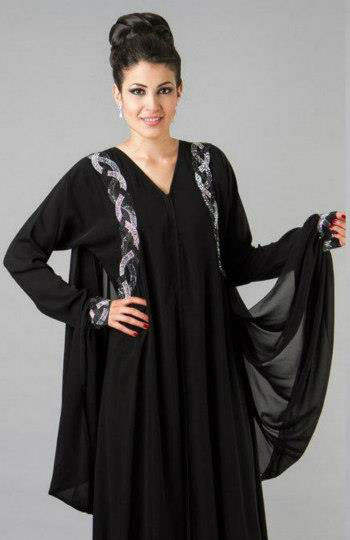 abaya dubai noir chic