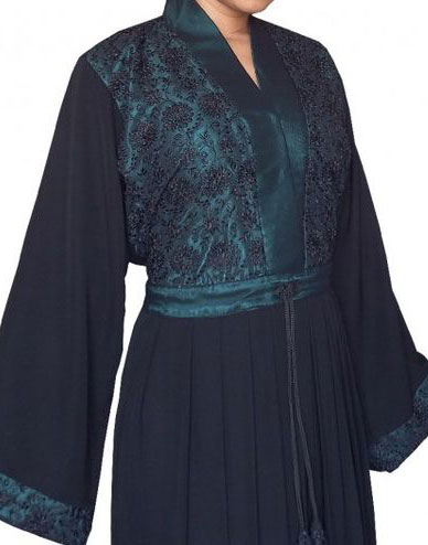 abaya dubai broderie perles et strass