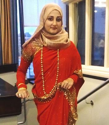 sari hijab beige