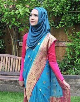sari indien hijab