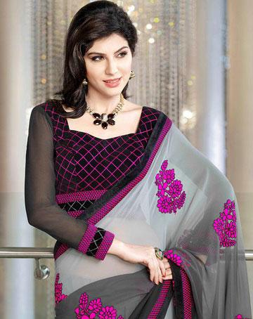 sari indien manche longue