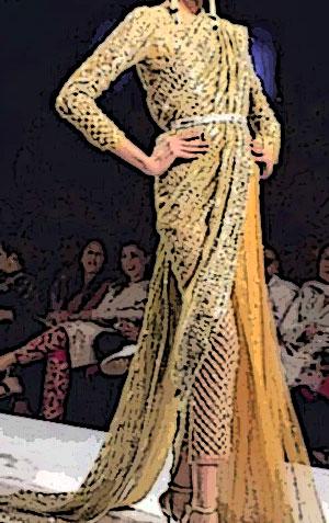 sari pantalon hindou de luxe