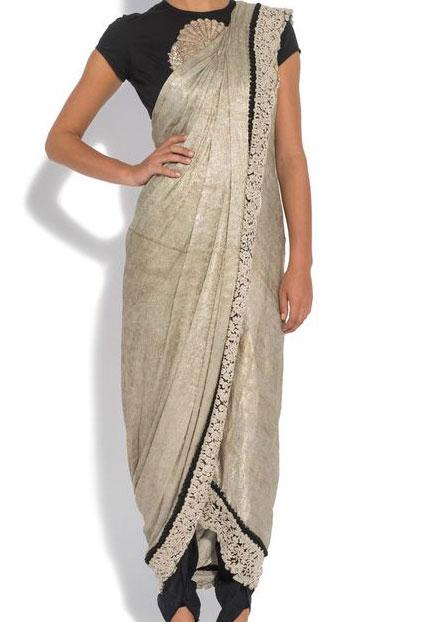 sari pantalon indien haute couture