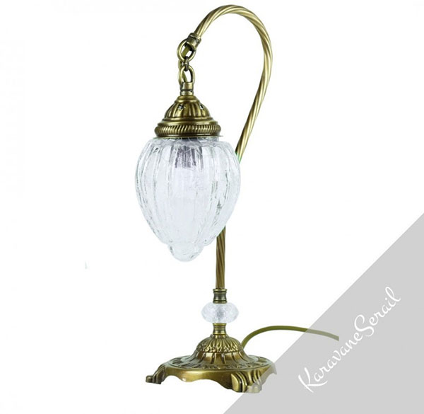 lampe de chevet orientale en verre