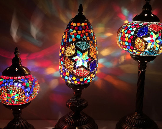 lampe mosaique turque
