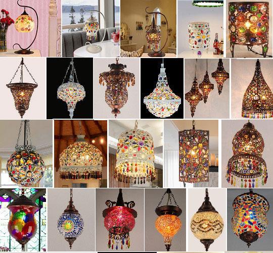 lampe turque a suspendre