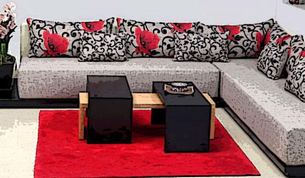 canapé d'angle marocain moderne